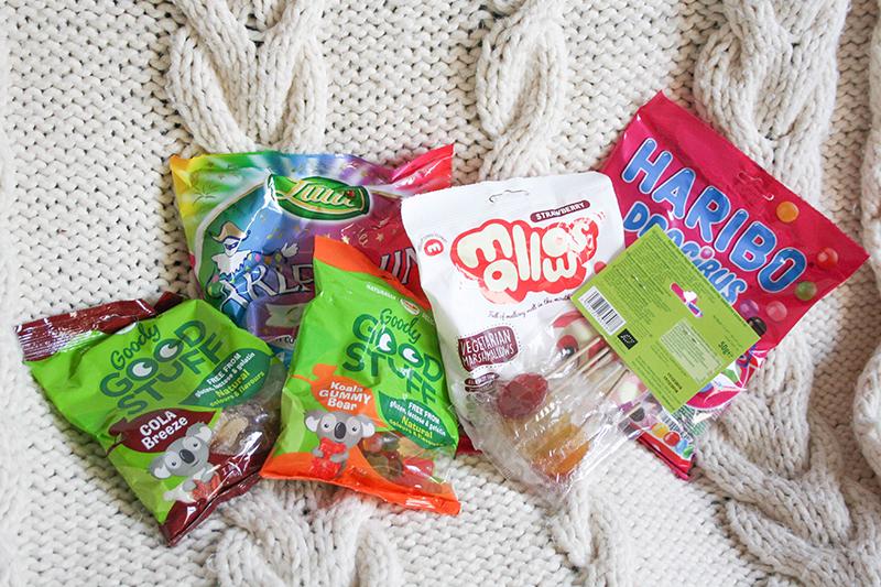 sélection bonbons vegan