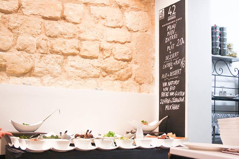 restaurant 42 degrés paris raw food