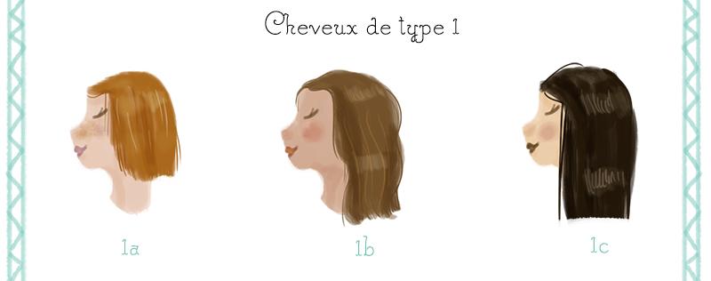 classification capillaire type de cheveux type 1
