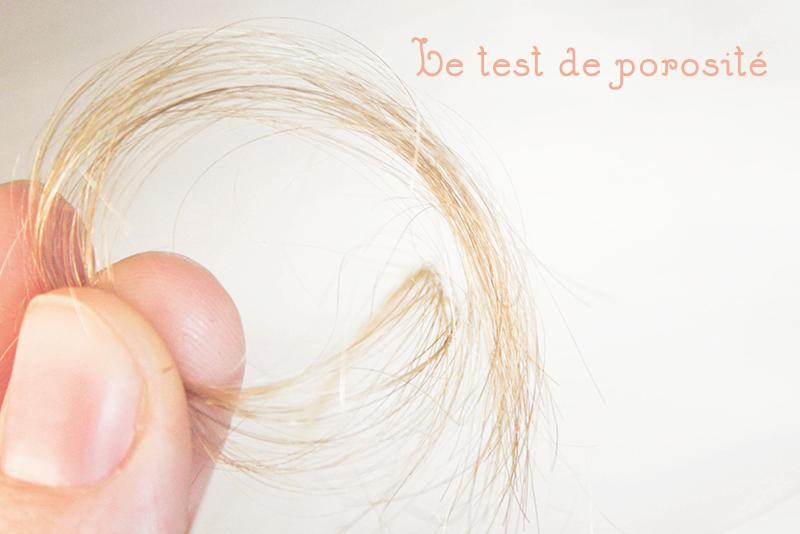 test de porosité cheveux
