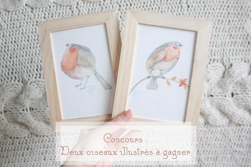 [CONCOURS] Deux oiseaux illustrés à gagner