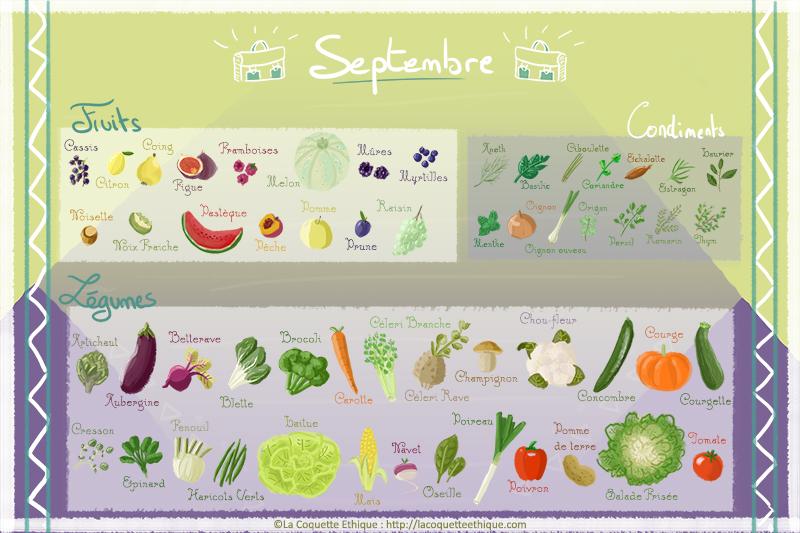 Fruits et légumes de Septembre – calendrier de saison #9